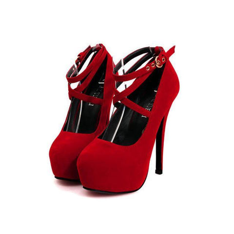 Sexy Ankle Strap High Heels - heels - Rebel Style Shop