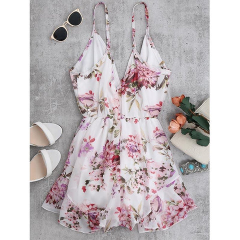 Cute Floral Romper - Romper - Rebel Style Shop