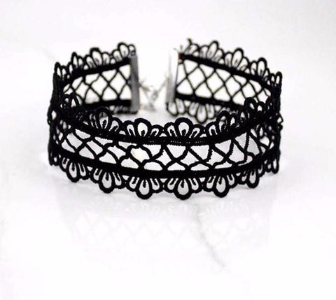 Black Lace Choker - Rebel Style Shop - 2