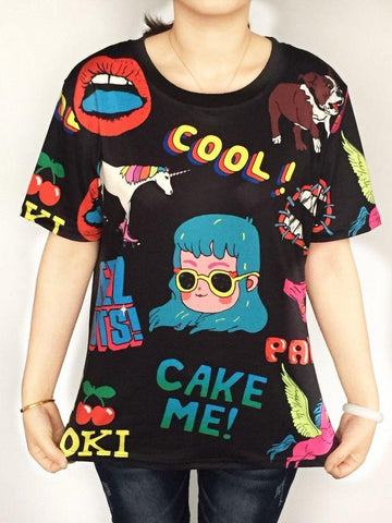 Harajuku Cool Tshirt Designs - Cool T shirts - Rebel Style Shop