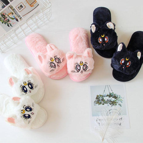 Sailor Moon Fluffy Slippers - Slippers - Rebel Style Shop
