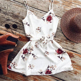White Floral Mini Dress