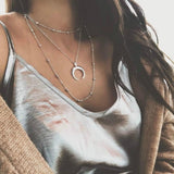 Boho Multilayer Horn Necklace - necklace - Rebel Style Shop