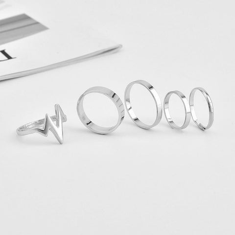 Boho Heartbeat Ring Set