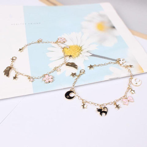 Gold Bracelet Sailor Moon - charm bracelet - Rebel Style Shop