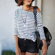 Summer Stripes 3/4 - Sleeve Top