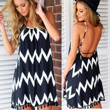 Chevron Shift Dress - Mini Dress - Rebel Style Shop