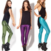 Fish Scale Mermaid Printed Leggings - Leggings - Rebel Style Shop