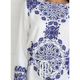 Blue And White Porcelain Pattern Dress - Rebel Style Shop - 3