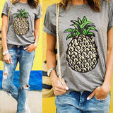Pineapple Graphic T-Shirt - T-Shirt - Rebel Style Shop