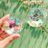 Round Kaleidoscope Holographic Sunglasses - sun - Rebel Style Shop