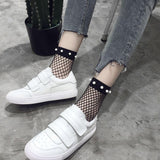 Mesh Socks with Pearls