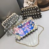 Fashion Pearl Transparent Bag - Purse - Rebel Style Shop