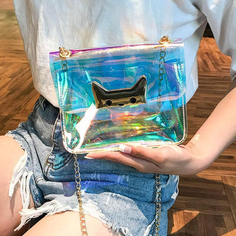 Cat Clear Purse - Purse - Rebel Style Shop