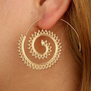 Spiral Hoop Earrings - Hoop Earrings - Rebel Style Shop