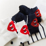Kawaii Red Heart Cotton Ankle Socks