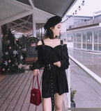 Gothic Harajuku Black Dress