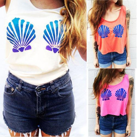 Mermaid Bra Crop Top - Rebel Style Shop - 1