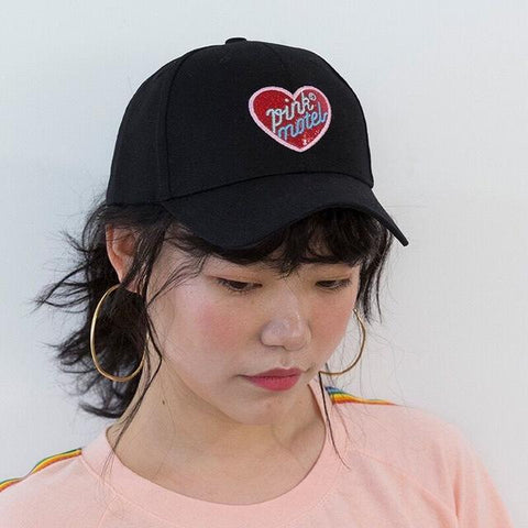 Pink Motel Embroidered Harajuku Baseball Cap