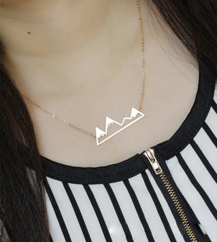 Snowy Mountain Top Necklace - Rebel Style Shop - 1