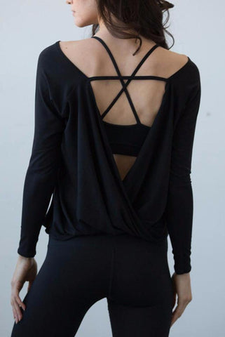 Open Back Yoga Top - Rebel Style Shop - 1