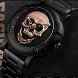 Skull Watch, Stainless Steel, Water Resistant