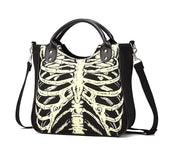 Gothic Skeleton Purse, Glow in the Dark Bag - Skeleton Purse - Rebel Style Shop