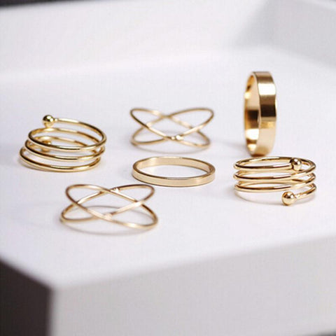 Gold Boho Rings (6 Piece Set) - Rebel Style Shop - 1