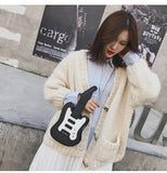 Guitar Shaped Crossbody Purse