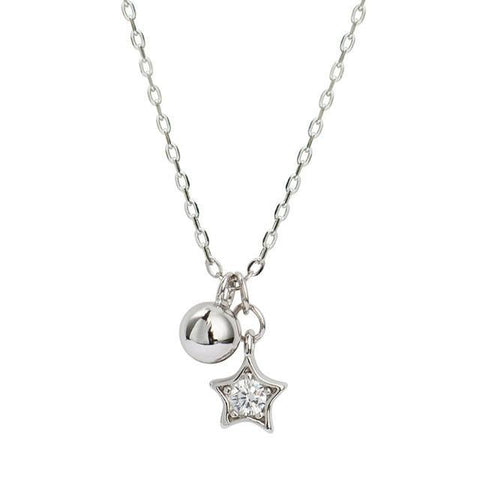 Silver Star and Bell Pendant Necklace