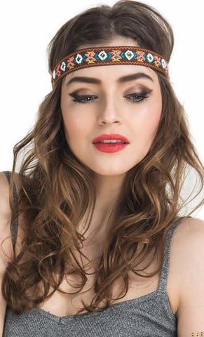 Tribal Embroidered Headband - Rebel Style Shop - 1
