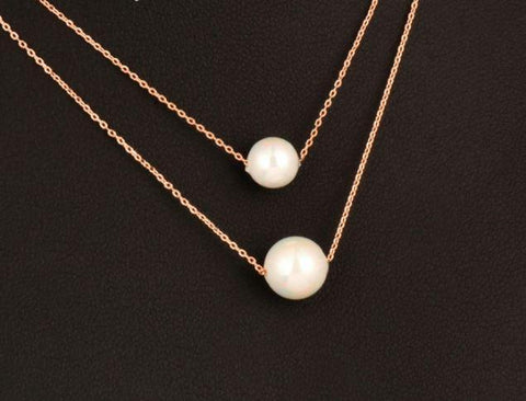 Classic Pearl Necklace - necklace - Rebel Style Shop