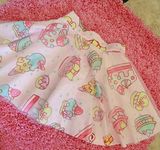 Japanese Harajuku Cake and Strawberry Pink Gauze Skirt