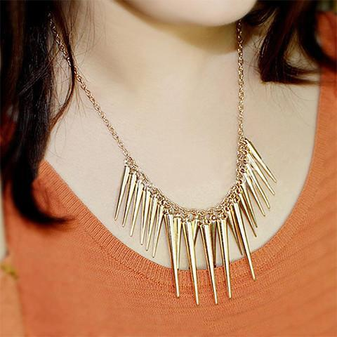 Spike Statement Necklace - Rebel Style Shop - 1