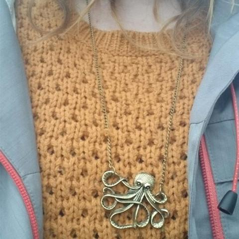 Steampunk Octopus Necklace - Rebel Style Shop - 1