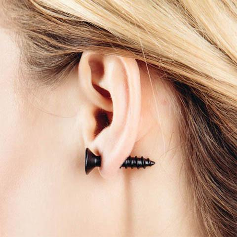 Screw Stud Earring - Rebel Style Shop - 1