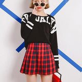 Tartan Pleated Mini Skirt - Skirt - Rebel Style Shop