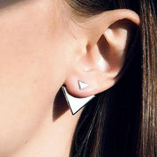 Triangle Ear Jackets - Earrings - Rebel Style Shop