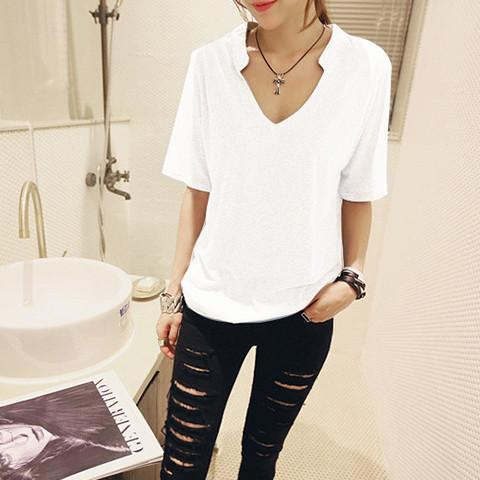 Vintage V-neck Shirt - Rebel Style Shop - 1