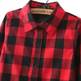 Women's Flannel Shirt - Blouse - Rebel Style Shop