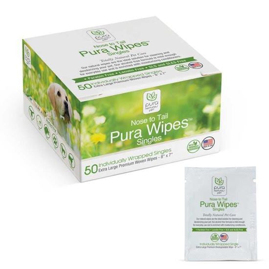 Pura Nose to Tail Wipes Singles