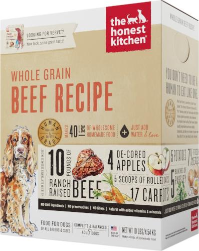 The Honest Kitchen Whole Grain Beef Dog Food (Verve)