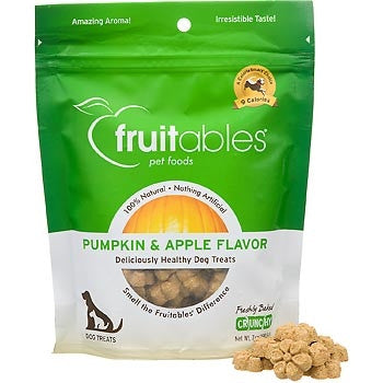 Fruitables Pumpkin Baked Crunchy 7oz Dog Treats