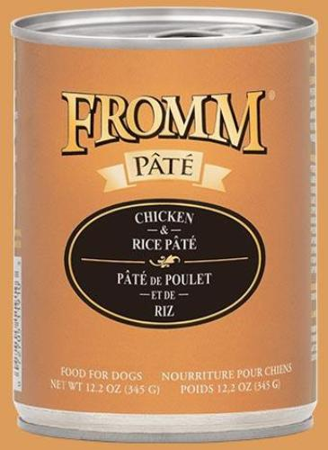 Fromm Grain Free Pate Dog Food 12oz Cans