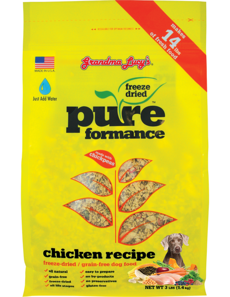 Grandma Lucy's PUREformance Freeze Dried Grain Free Dog Food