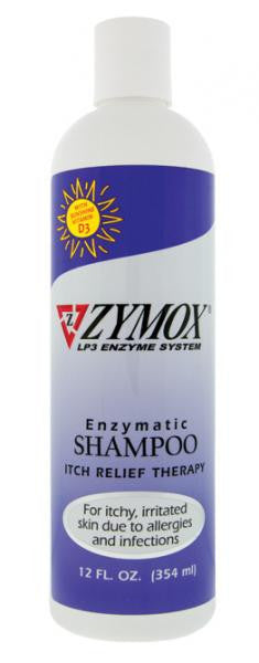 ZYMOX Shampoo for Itchy Inflamed Skin 12oz