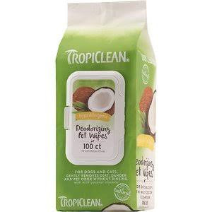 Tropiclean Hypoallergenic Wipes 100ct