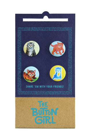 Four Button Set - cats