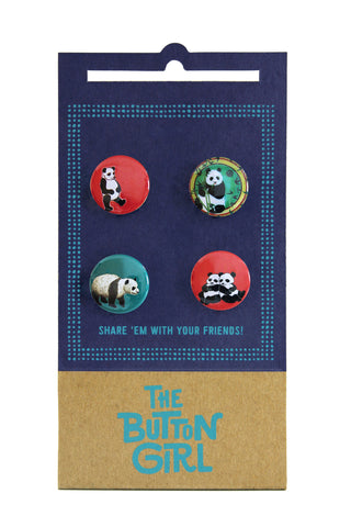 Four Button Set - pandas