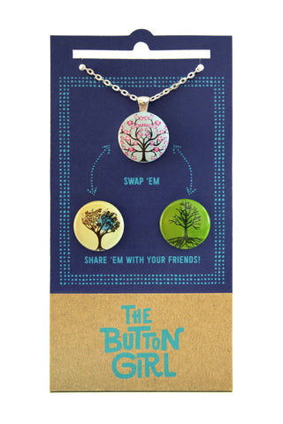 Magnetic Necklace with two interchangeable magnets - trees